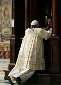 pope francis going to confession